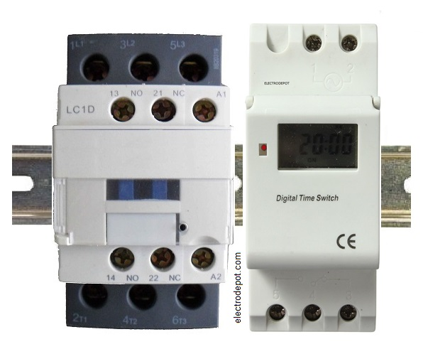 4 Pole Lighting Contactor Normally Closed And Normally Open